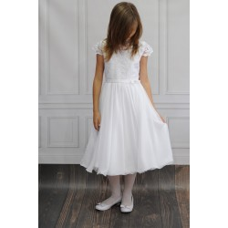 Beautiful Handmade Ballerina Length First Holy Communion Dress Style BONITA