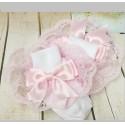 Cute White/Pink Baby Girl Socks style pinksox