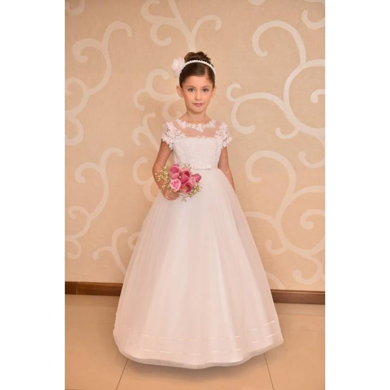 Lovely Lace Top Handmade Communion Dress