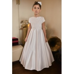 Satin skirt Beautiful Communion Dress style J5