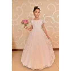 Subtle Lace Communion Dress style J06