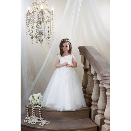 b3dfe371117 Ivory Flower Girl Special Occasion First Holy Communion Dress Style FG009