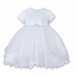 Sarah Louise Ballerina Length White Christening Dress Style 070055-1