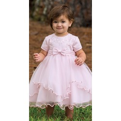 Sarah Louise Pink Ballerina Length Flower Girls/Special Occasions Dress Style 070055-2