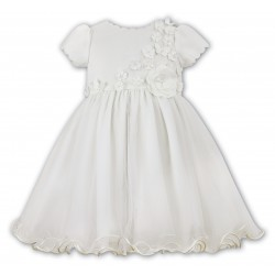 Sarah Louise Ivory Ballerina Length Christening Dress Style 070103