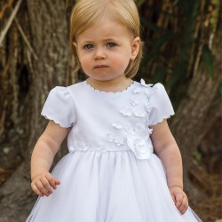 Sarah Louise White Ballerina Length Christening Dress Style 070103