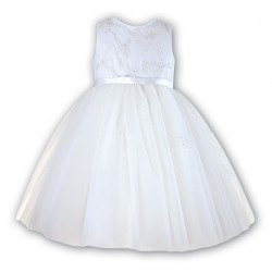 Sarah Louise Ivory Ballerina Length Flower Girl Dress Style 070035-2