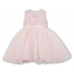 Sarah Louise Pink Ballerina Length Flower Girl Dress Style 070035-2