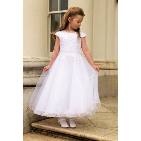 Lovely First Holy Communion Ballerina Length Dress Style HANNAH