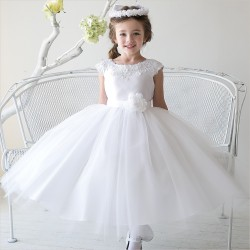 Sevva White Flower Girl/Special Occasion Dress Style KELLY