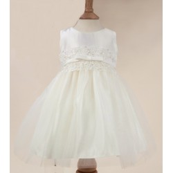 Sevva Ivory Christening Dress with Pearls & Bow Style SKB473