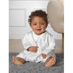Sevva Baby Boy 3 Piece Ivory Christening Romper Style PETER