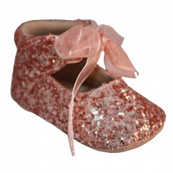 Lovely Special Occasion Baby Girl Rose Gold Shoes Style ZOE