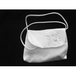 Simple and Elegant Satin Communion Handbag style Emi01