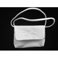 Communion Handbag with Lace on Flap style Emi06