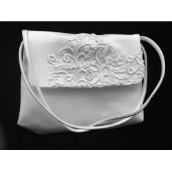 Communion Handbag with Lace Pattern style Emi07