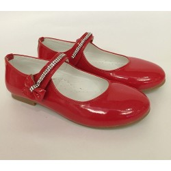 Red Leather Special Occasions Shoes Style 4360