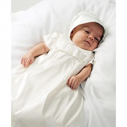 Baby Boy Christening Robe/Gown & Bonnet style 001177s