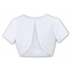 White First Holy Communion/Special Occasion Bolero from Sarah Louise Style 057001-3