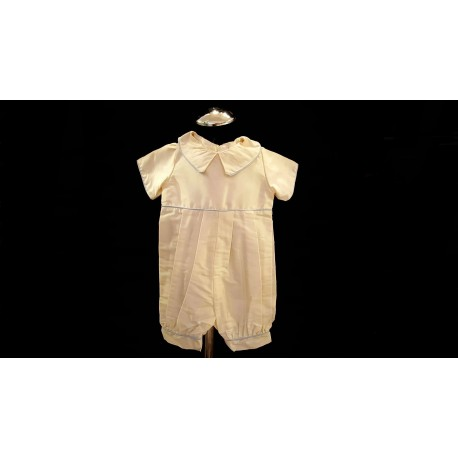 Ivory Chrstening Millie Grace Romper Style Louise