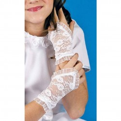 White First Holy Communion Gloves Style K-77
