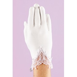 White Communion Gloves K-30