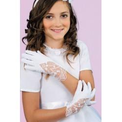 Little People White Communion Gloves K-81