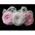 White/Pink Christening/Special Occasion Headband Style 437b