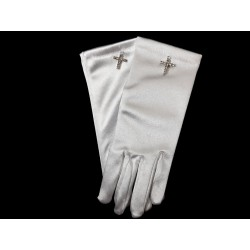 Celebrations Communion Gloves Cross Style Cg780