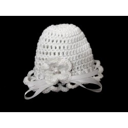 White Christening/Special Occasion Handmade Hat Style CROCHET HAT