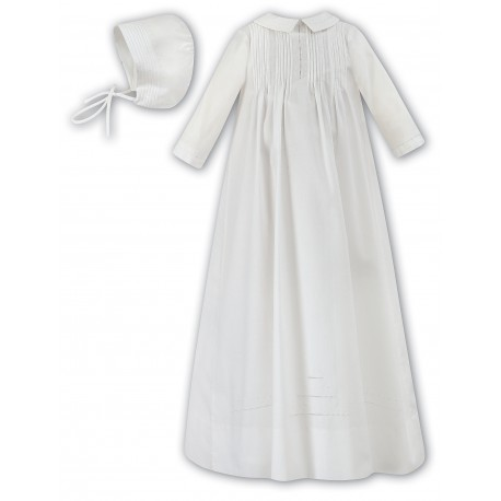 Sarah Louise Baby Boy Ivory Gown with Bonnet Style 001175L