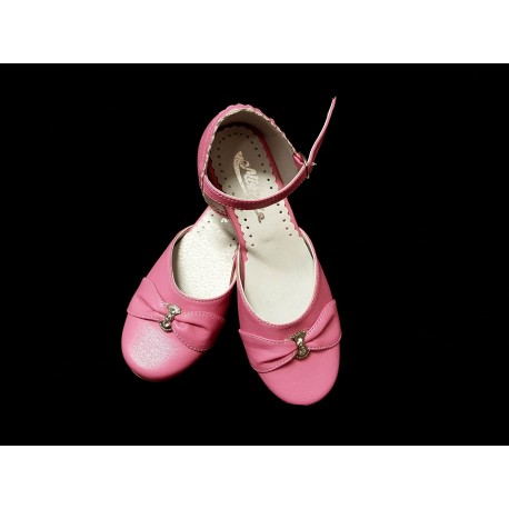 Pink Leather Special Occasions Shoes Style 673