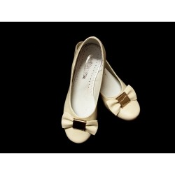 Ivory Leather Special Occasions Shoes Style 801