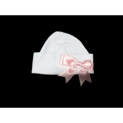 Cute Baby Girl Cotton Hat with Bow style HBow
