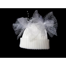Lovely Autumn/Winter White Baby Girl Hat style 2bhat