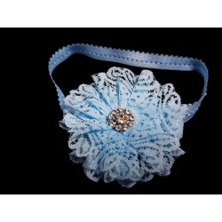 Blue Handmade Christening/Special Occasion Headband Style 362