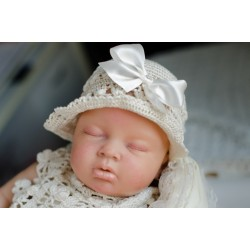 Baby Girls Ivory Crochet Christening/Special Occasion Bonnet Style DAISY