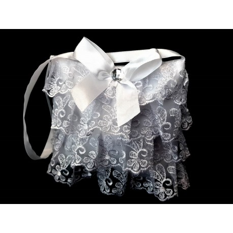 White First Holy Communion/Special Occasion Handbag Style LACE BAG