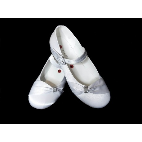 Rochelle White First Holy Communion Shoes Style R026