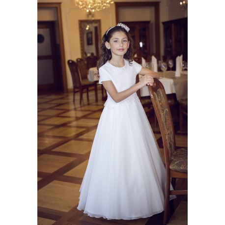 Elegant Simple First Holy Communion Dress Style B09