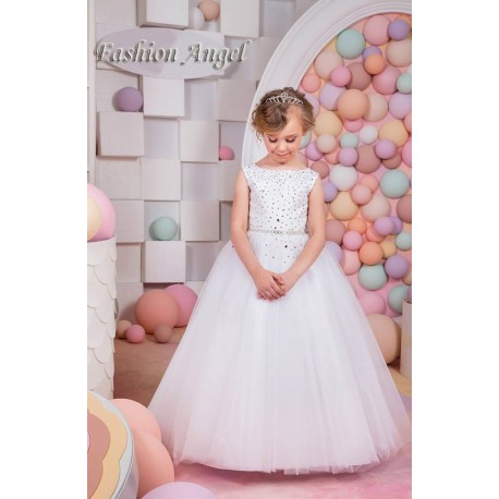 Beautiful First Holy Communion Dress Style 15-019