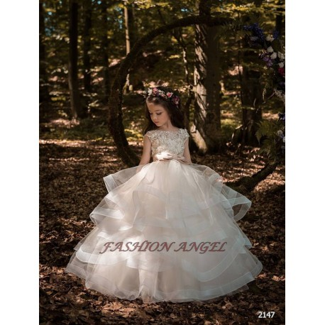 Unusual First Holy Communion Dress Style 18-2147