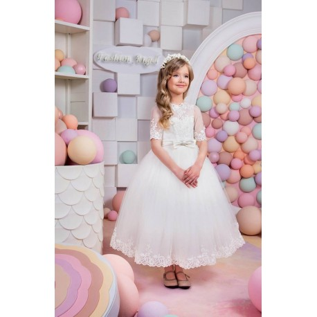 Pretty First Holy Communion Dress Style 15-015
