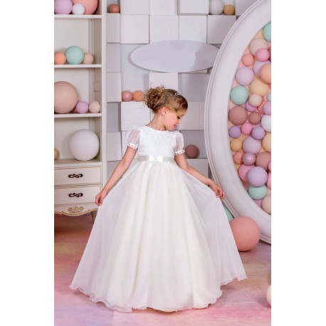 Elegant First Holy Communion Dress Style 15-041