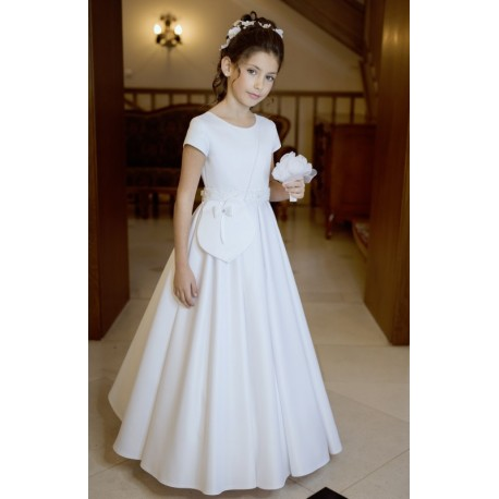 Elegant Simple Handmade First Holy Communion Dress Style B01