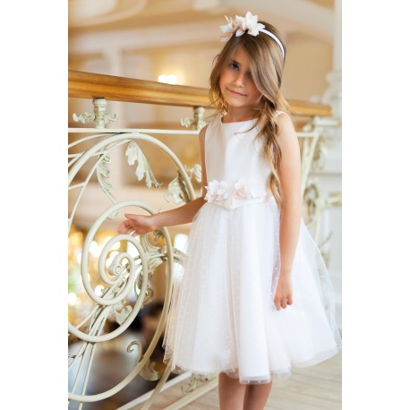 White&Pink Confirmation Dress 1A/SM/18