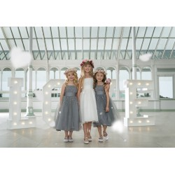 Paisley of London Grey Flower Girl/Special Occasion Dress Style PARIS GREY