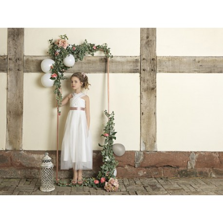 Occasion dress Aurora Ivory/Pink