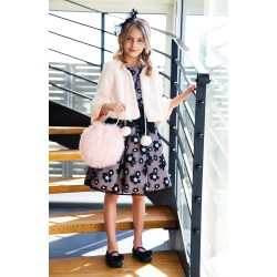 Beautiful Pink and Black Confirmation/Special Occasion Dress Style 17/J/17