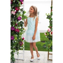 Light Turquoise&Ivory Confirmation Dress 19/SM/18